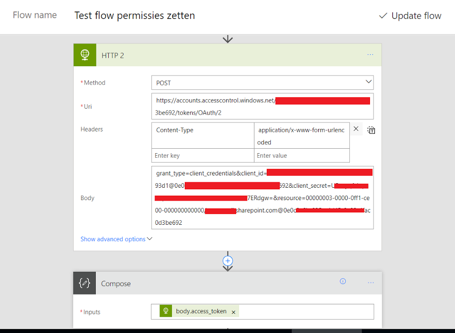 Call any SharePoint REST API from Microsoft Flow
